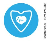 cardio icon and shield....   Shutterstock .eps vector #1096198280