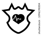 cardio icon and shield....   Shutterstock .eps vector #1096198304