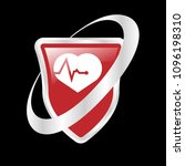 cardio icon and shield....   Shutterstock .eps vector #1096198310
