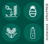 set of 4 food outline icons... | Shutterstock .eps vector #1096199828