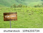 land for sale concept land for ... | Shutterstock . vector #1096203734