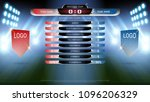 football scoreboard team a vs... | Shutterstock .eps vector #1096206329