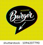 burger logo in bubble cloud... | Shutterstock . vector #1096207790