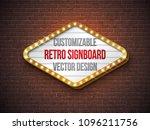 vector retro signboard or... | Shutterstock .eps vector #1096211756