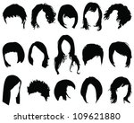 hair styling vector | Shutterstock .eps vector #109621880