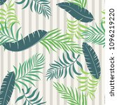 tropical background with palm... | Shutterstock .eps vector #1096219220