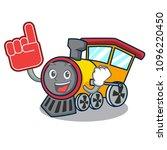 foam finger train mascot... | Shutterstock .eps vector #1096220450