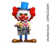 3d render of a clown with a... | Shutterstock .eps vector #1096221644