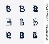 vector letter b logo template...   Shutterstock .eps vector #1096221938