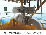 shut down valve on off valve... | Shutterstock . vector #1096224980