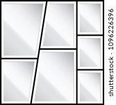 vector frames photo collage...   Shutterstock .eps vector #1096226396