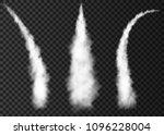 smoke from space rocket  launch.... | Shutterstock .eps vector #1096228004