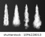 smoke from space rocket launch. ... | Shutterstock .eps vector #1096228013