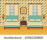 bedroom interior. hotel room... | Shutterstock .eps vector #1096230800