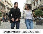 young 30 years old couple...   Shutterstock . vector #1096232408