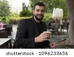 man drinking beer in bar... | Shutterstock . vector #1096233656