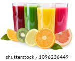 juice smoothie smoothies in... | Shutterstock . vector #1096236449