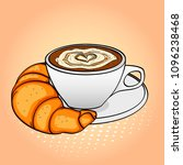pop art background  breakfast ... | Shutterstock .eps vector #1096238468