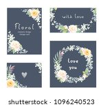 collection of floral romantic... | Shutterstock .eps vector #1096240523