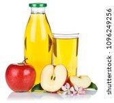 apple juice apples fruit fresh... | Shutterstock . vector #1096249256