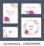 collection of floral romantic... | Shutterstock .eps vector #1096249283