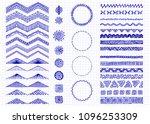 set of hand drawn doodle...   Shutterstock .eps vector #1096253309