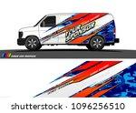 cargo van graphic vector.... | Shutterstock .eps vector #1096256510