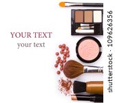 makeup brush and cosmetics  on... | Shutterstock . vector #109626356