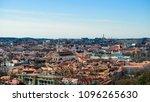 beautiful spring panorama of... | Shutterstock . vector #1096265630