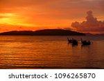 golden light of sunset to the... | Shutterstock . vector #1096265870