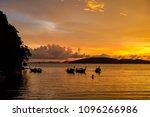 golden light of sunset to the... | Shutterstock . vector #1096266986