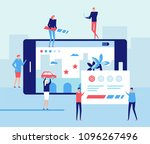 mobile gaming development  ... | Shutterstock .eps vector #1096267496