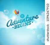 the adventure begins typography ... | Shutterstock .eps vector #1096267910