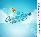 the adventure begins typography ... | Shutterstock .eps vector #1096267910