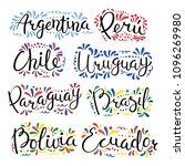 set of hand written... | Shutterstock .eps vector #1096269980