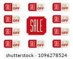 sale banners set. 5  10  15  20 ... | Shutterstock .eps vector #1096278524