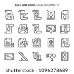 Stock vector legal documents bold line icons the illustrations are a vector editable stroke x pixel 1096278689