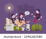 emo hanging out. young members... | Shutterstock .eps vector #1096282580