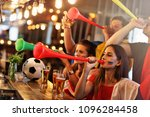group of friends watching...   Shutterstock . vector #1096284458