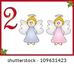 12 days of christmas  2 angels | Shutterstock . vector #109631423