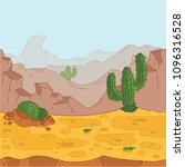 seamless background. desert... | Shutterstock .eps vector #1096316528