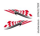 vinyl decal racing car...   Shutterstock .eps vector #1096317509