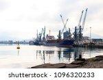 cargo port on black sea in... | Shutterstock . vector #1096320233