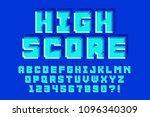 pixel vector font design ... | Shutterstock .eps vector #1096340309