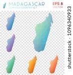 madagascar geometric polygonal  ... | Shutterstock .eps vector #1096340933
