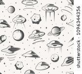 seamless pattern. space  ufo... | Shutterstock .eps vector #1096344356