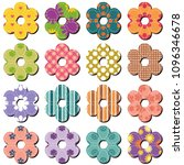scrapbook flowers on whit... | Shutterstock . vector #1096346678