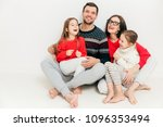 studio shot of happy family... | Shutterstock . vector #1096353494