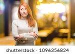 beautiful young redhead woman... | Shutterstock . vector #1096356824