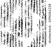 tropical pattern  palm leaves... | Shutterstock .eps vector #1096361228